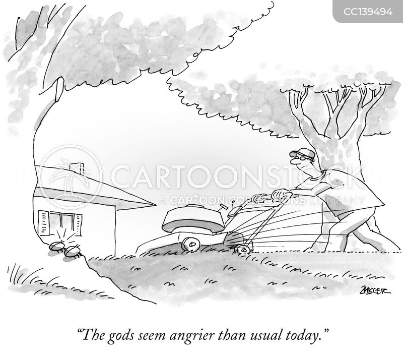 mower cartoon