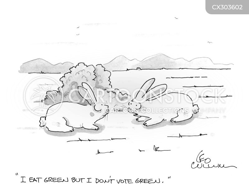 green party cartoon