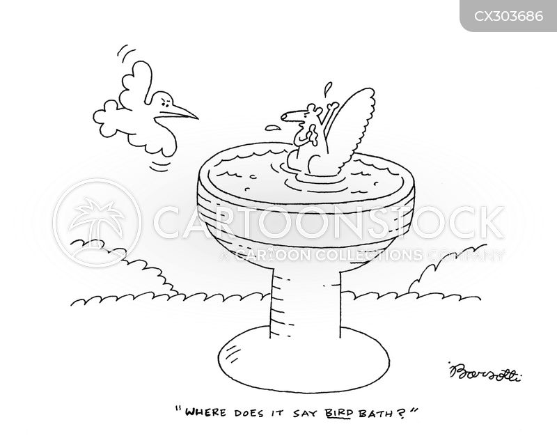 taking a bath cartoon