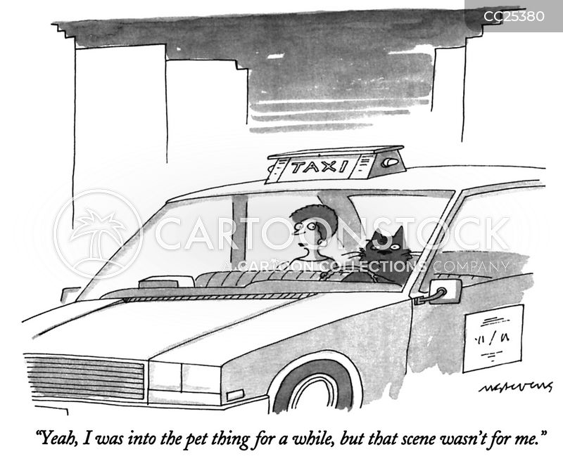 driving cartoon