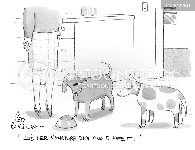 signature dish cartoon