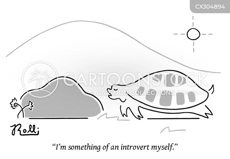 Introverted cartoon