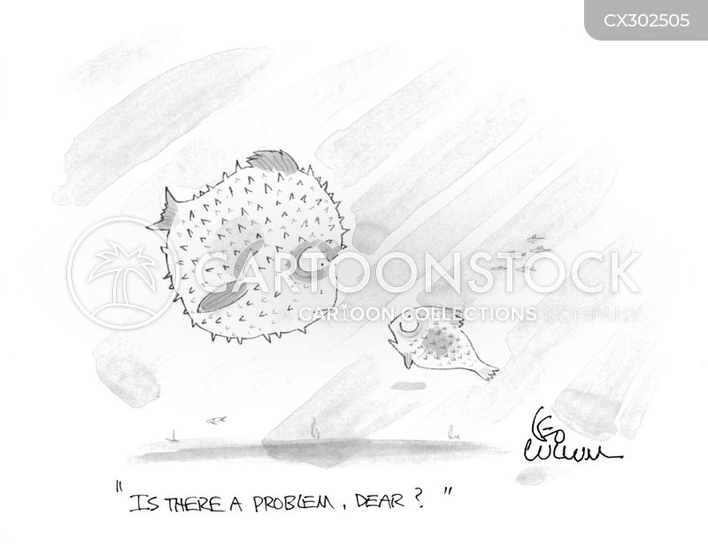 puffer cartoon
