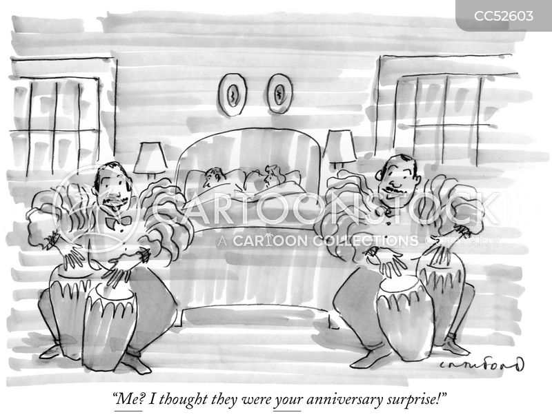 wedding anniversary cartoon