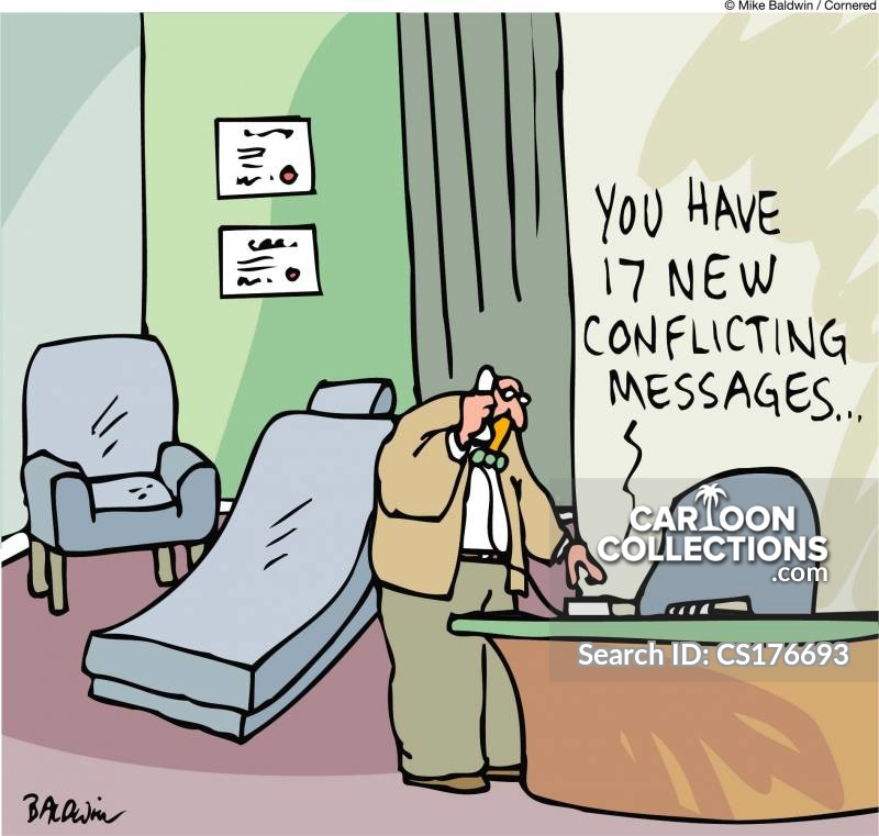 conflicting messages cartoon