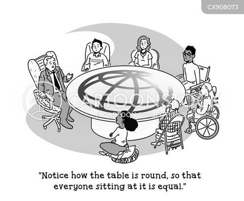 round table cartoon