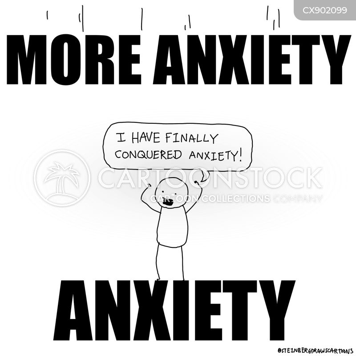 anxiety disorders cartoon