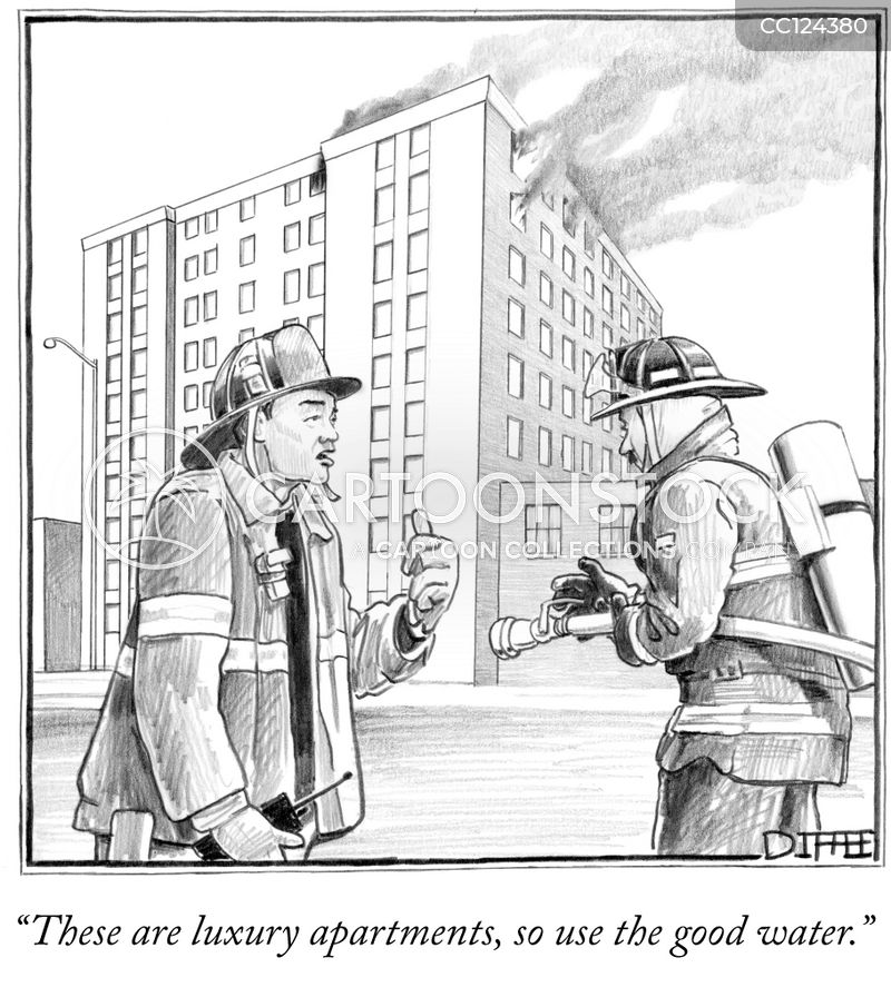 apartment cartoon