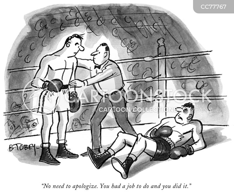 Prizefighter cartoon