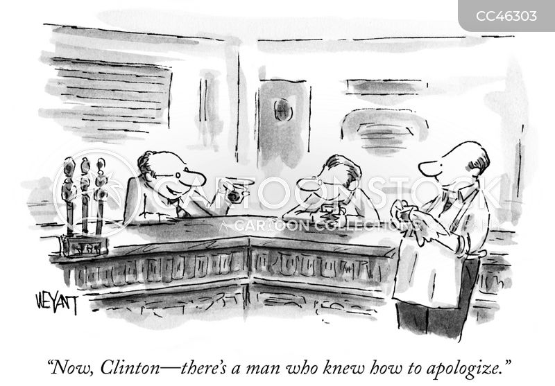 president clinton cartoon