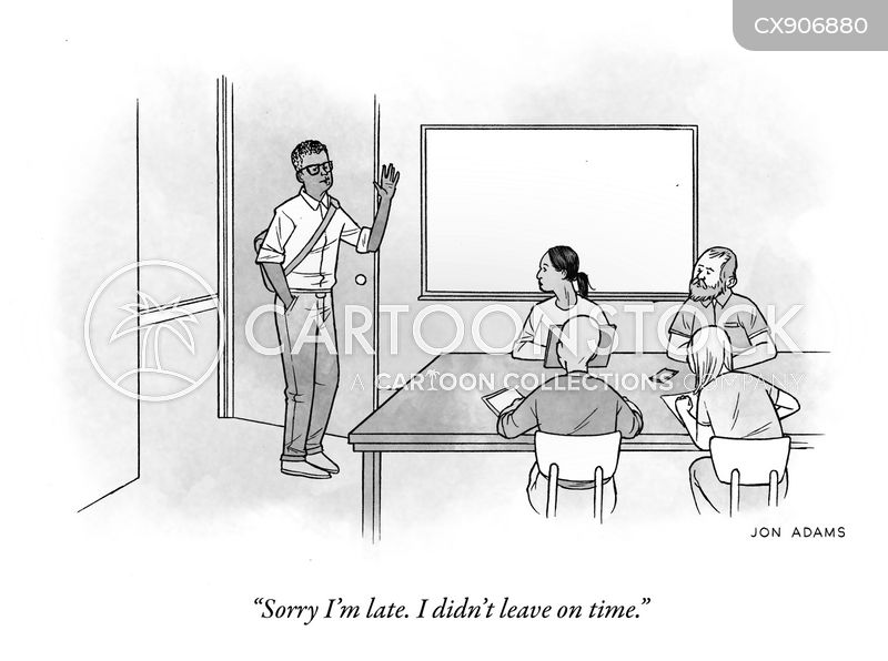 losing track of time cartoon