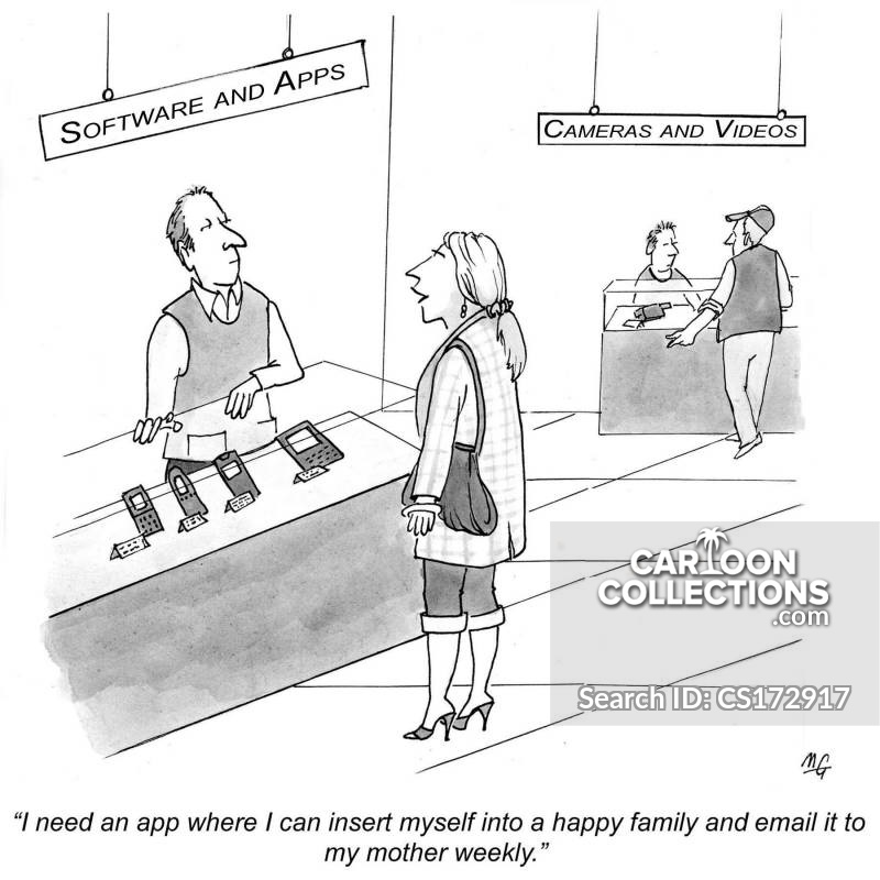 Anxious Mother cartoon