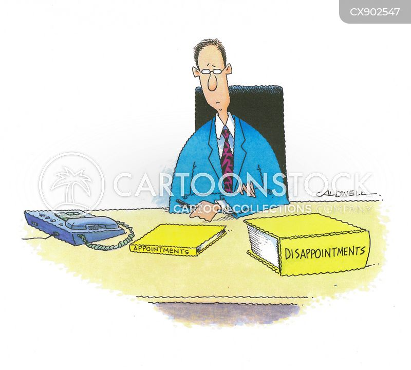 appointment books cartoon