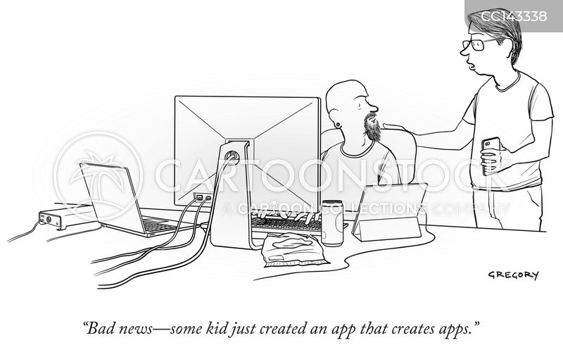 App cartoons, App cartoon, funny, App picture, App pictures, App image, App images, App illustration, App illustrations