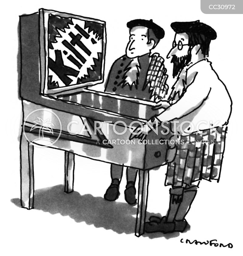 pinball machine cartoon