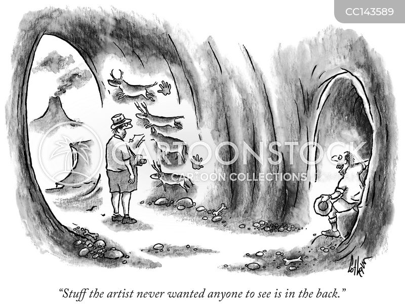 cave cartoon