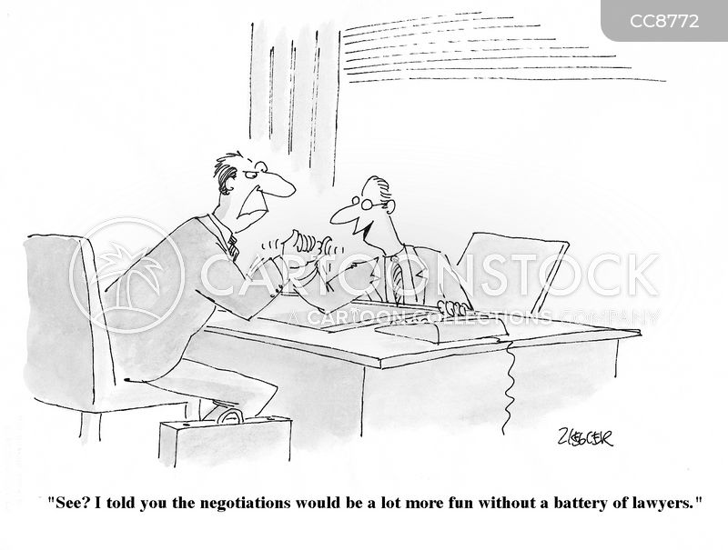 Business Deals cartoon