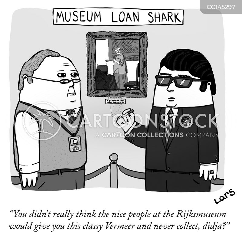 art collectors cartoon