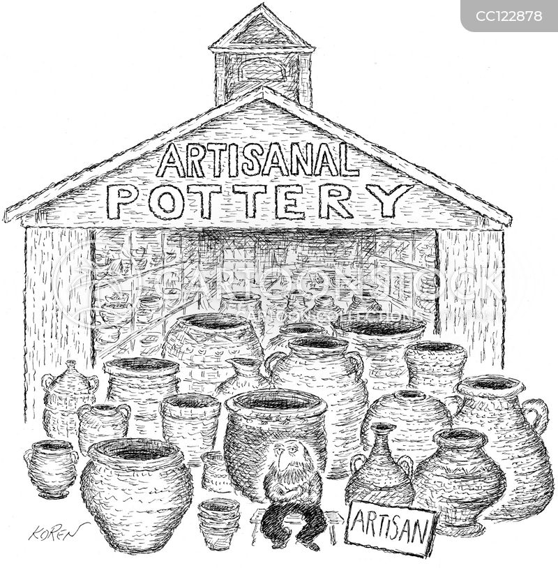 aritsanal pottery cartoon