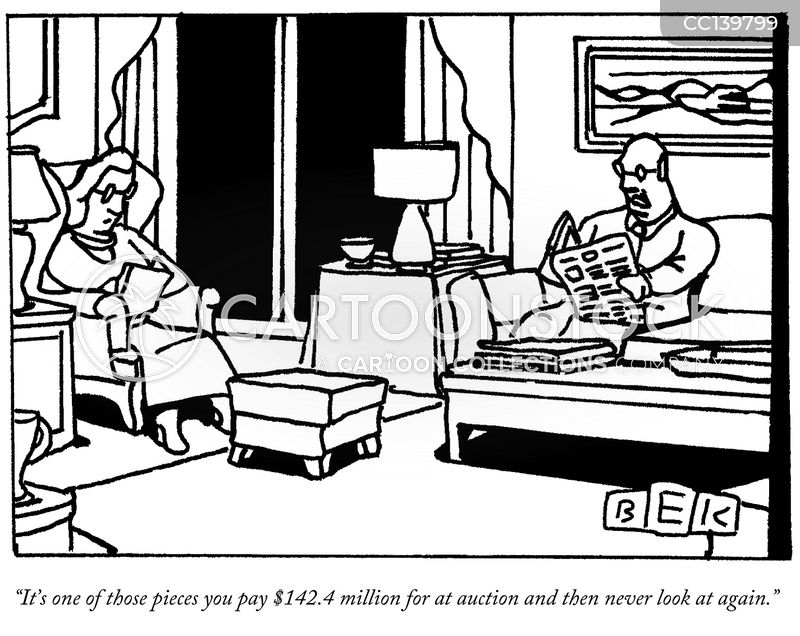 auction houses cartoon