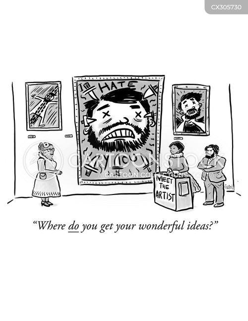 art exhibitions cartoon