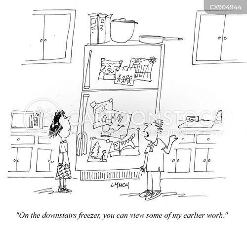 fridge art cartoon