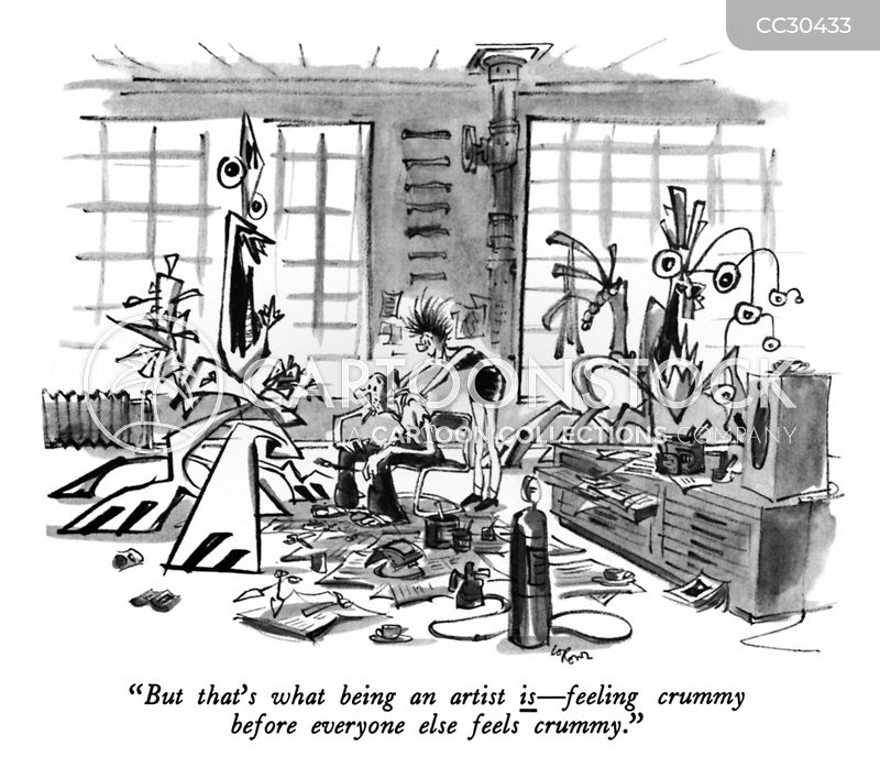 sculptures cartoon
