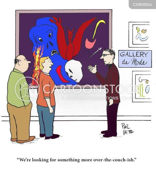 art gallery cartoon