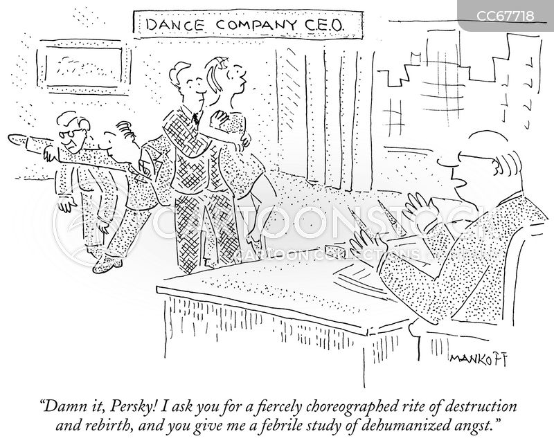 contemporary dance cartoon