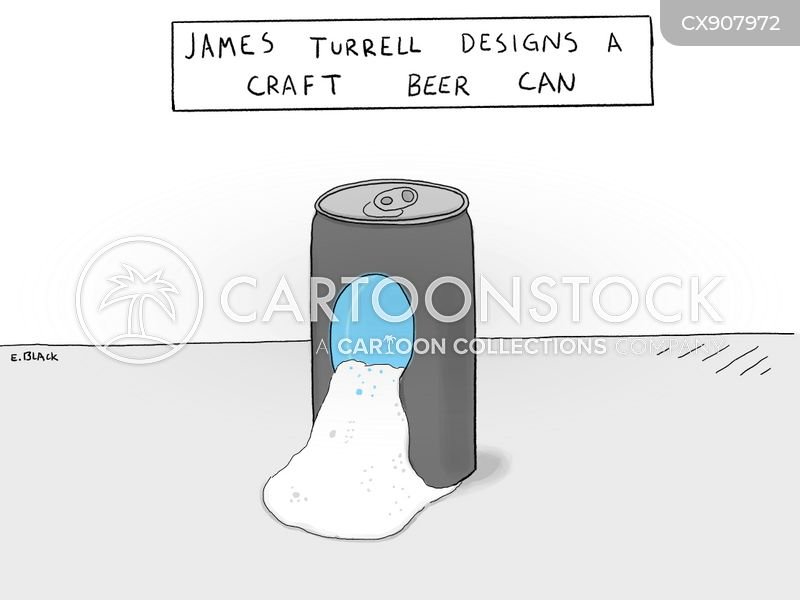 beer cans cartoon