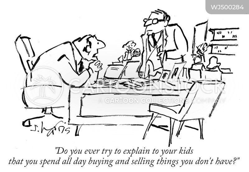 stock exchange cartoon