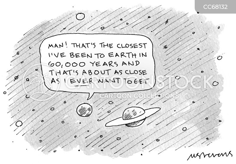 orbiting cartoon