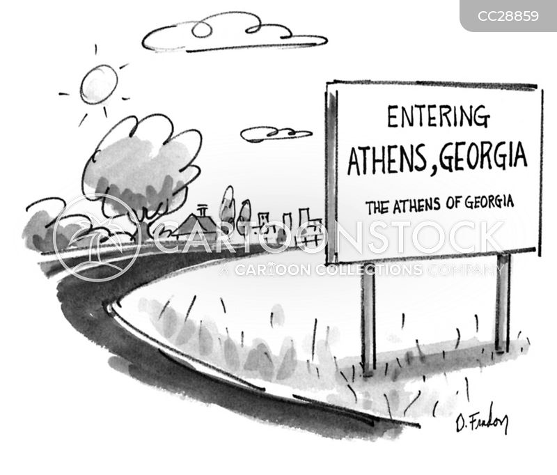 Ancient Athens cartoon