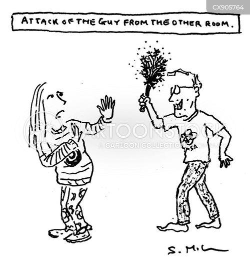 attacked cartoon