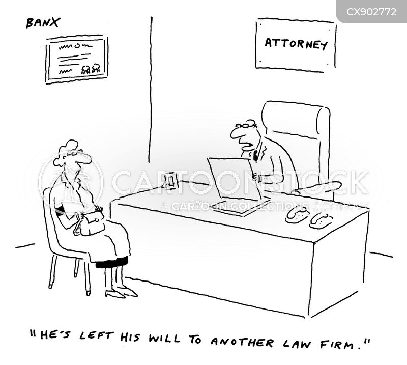 last will and testaments cartoon