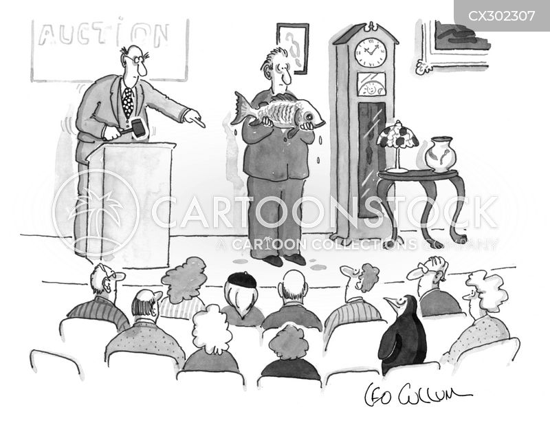 auction cartoon