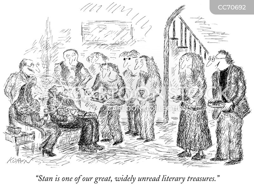 famous authors cartoon