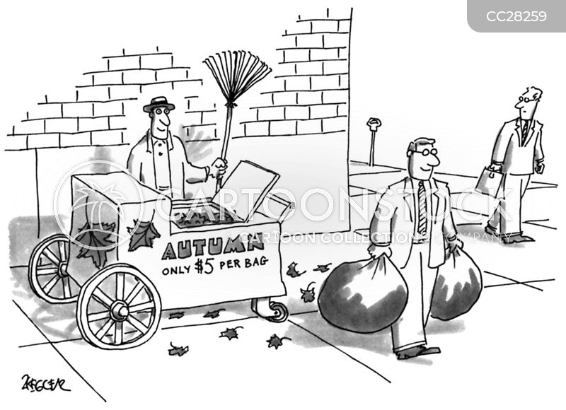 Yard Chore cartoon