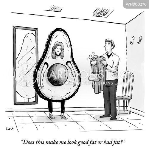 healthy fat cartoon