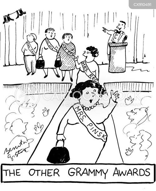 beauty pageant cartoon
