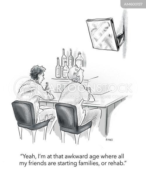 settling down cartoon