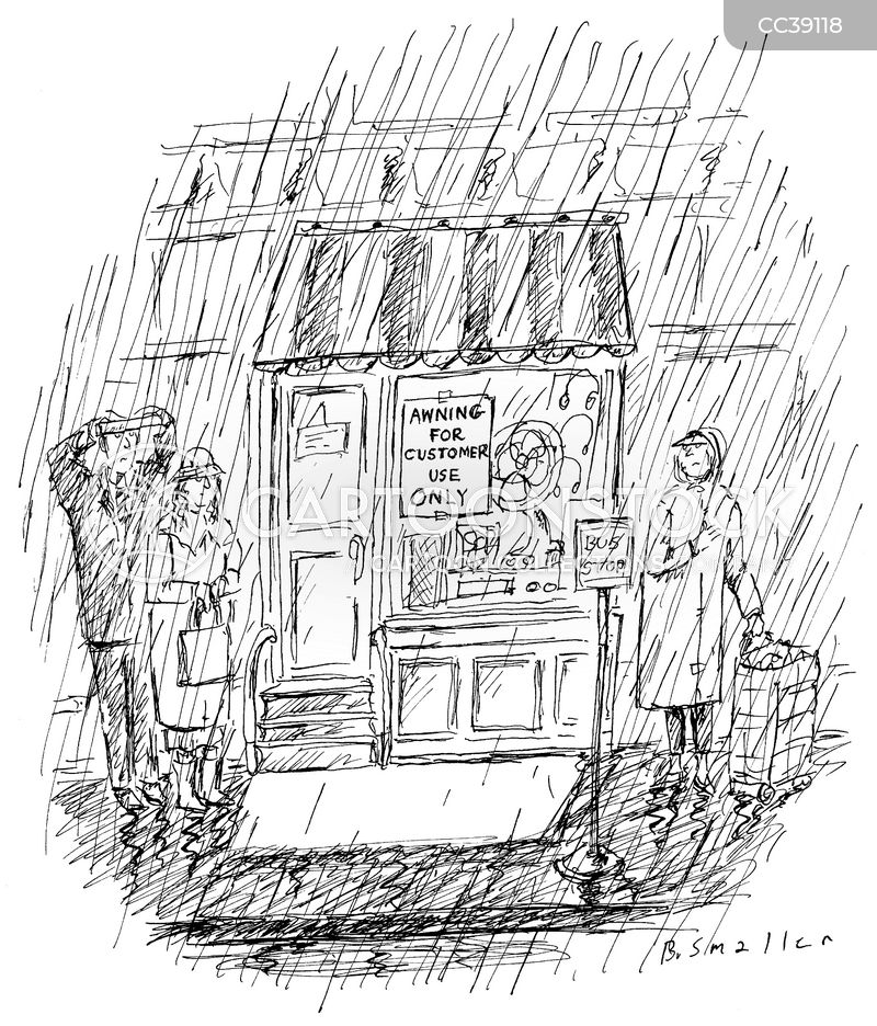 staying dry cartoon