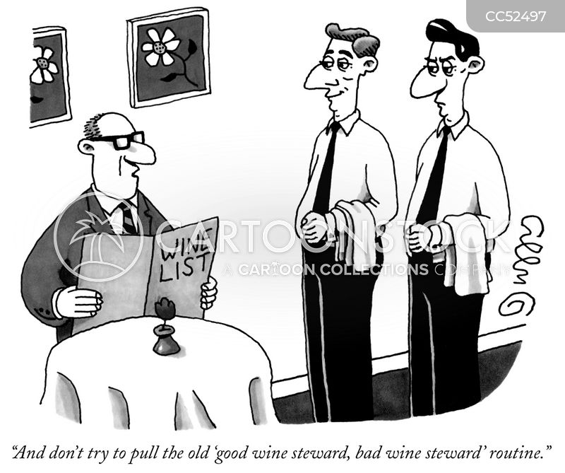sommeliers cartoon