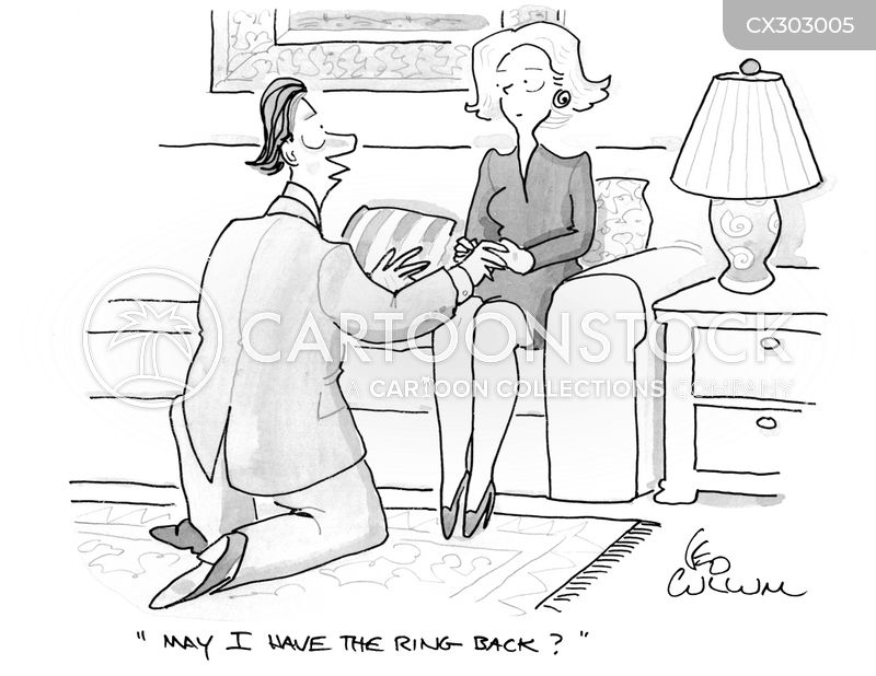 wedding ring cartoon