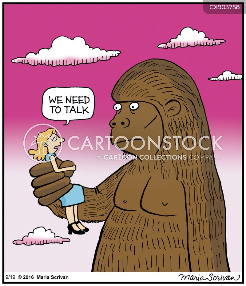 giant gorilla cartoon