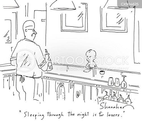 bad sleeper cartoon