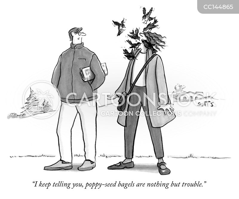 pecking cartoon