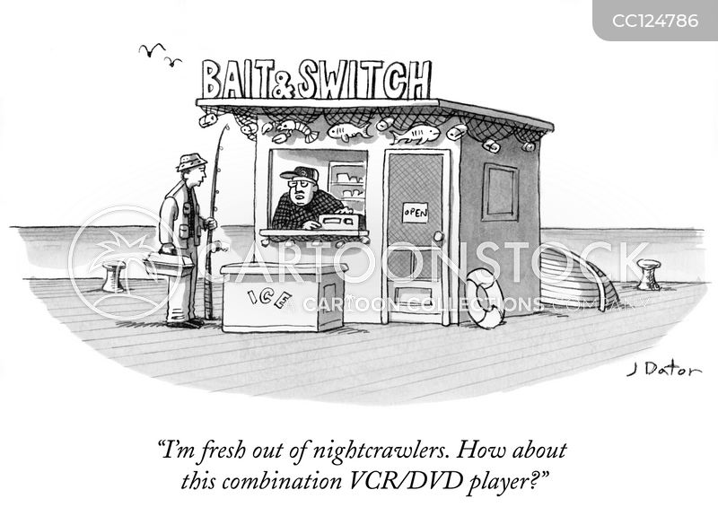 baiting and switching cartoon