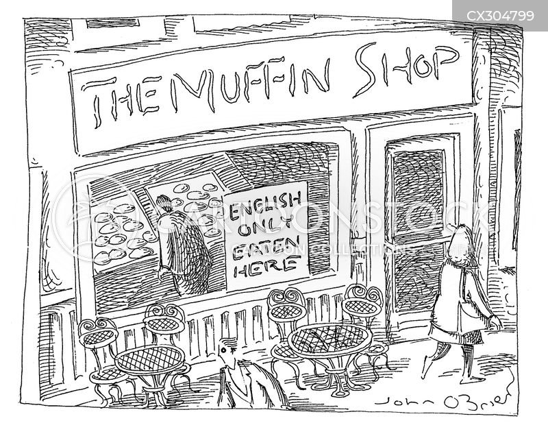 english muffin cartoon