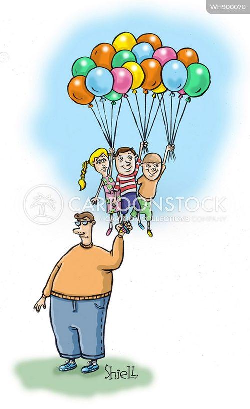 balloon seller cartoon